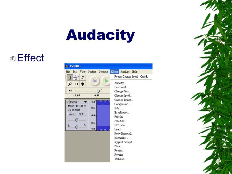 Audacity Effect