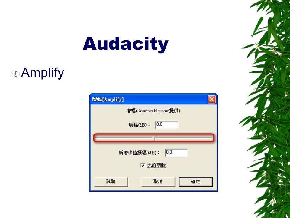 Audacity Amplify