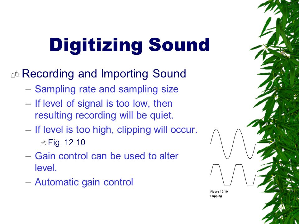 Digitizing Sound Recording and Importing Sound