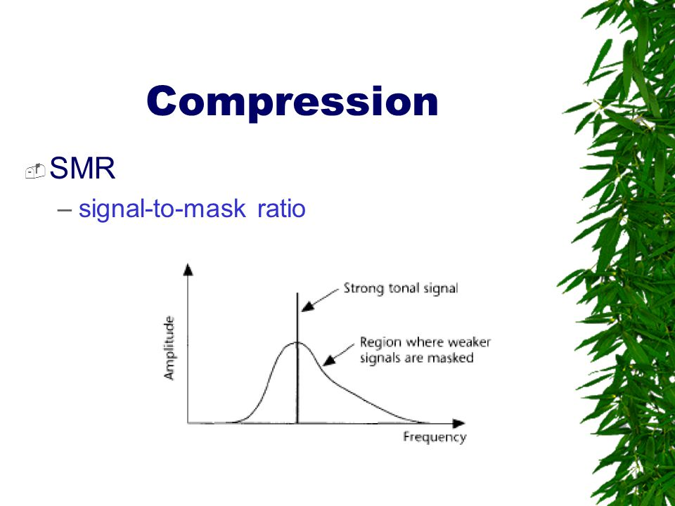 Compression SMR signal-to-mask ratio