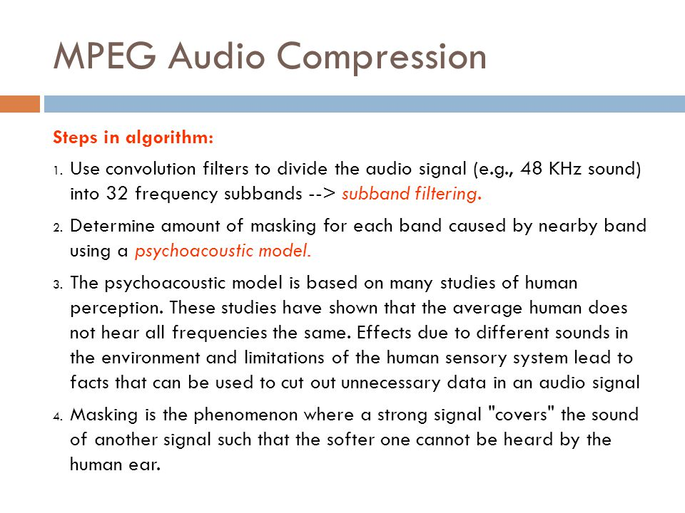 MPEG Audio Compression