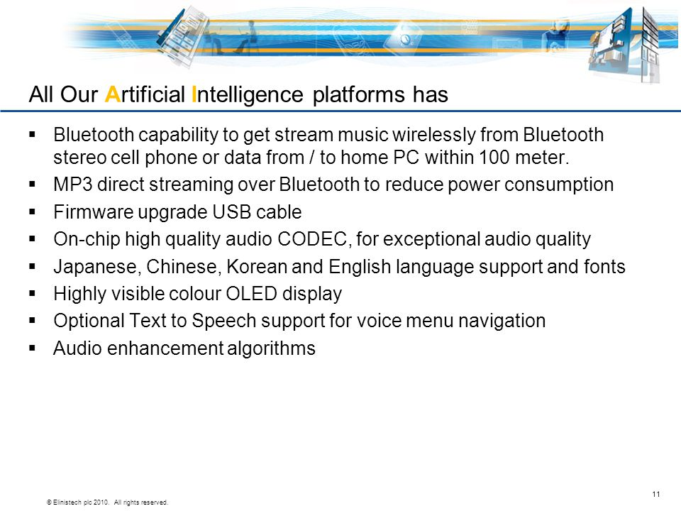 All Our Artificial Intelligence platforms has