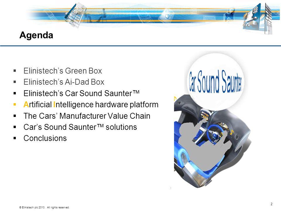 Agenda Elinistech's Green Box Elinistech's Ai-Dad Box