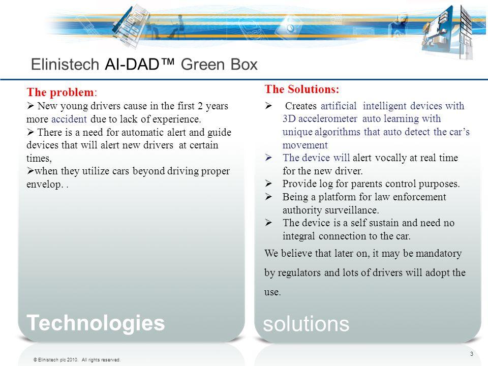 Elinistech AI-DAD™ Green Box