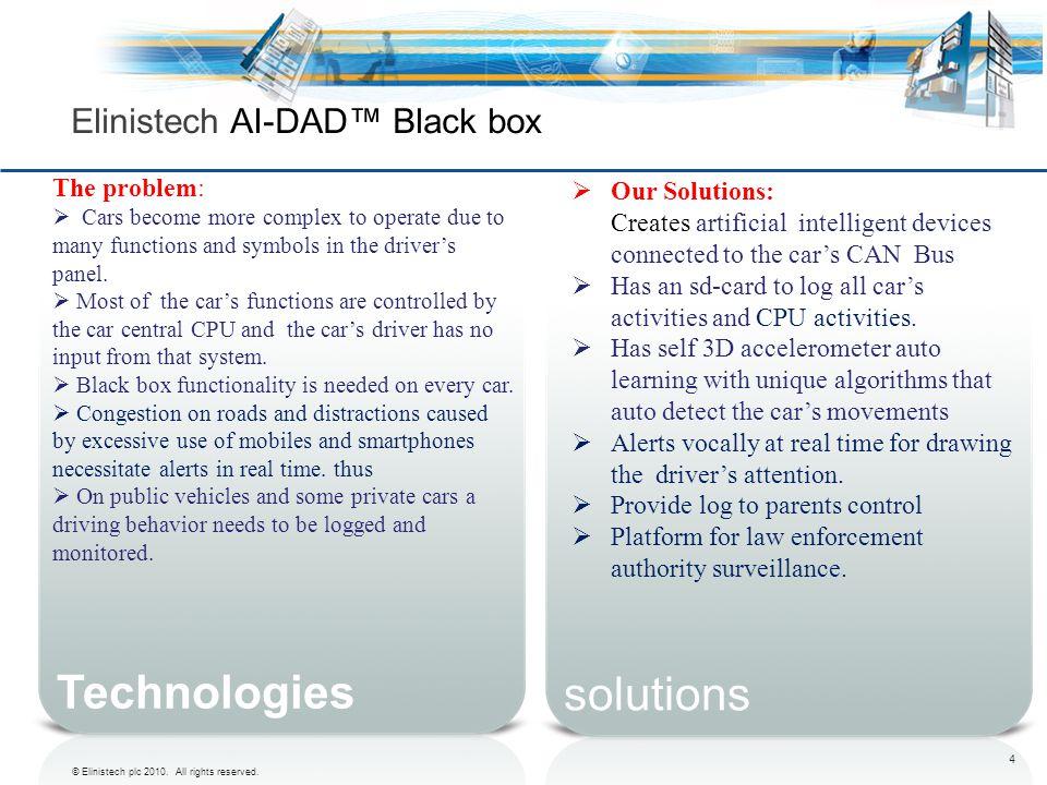 Elinistech AI-DAD™ Black box
