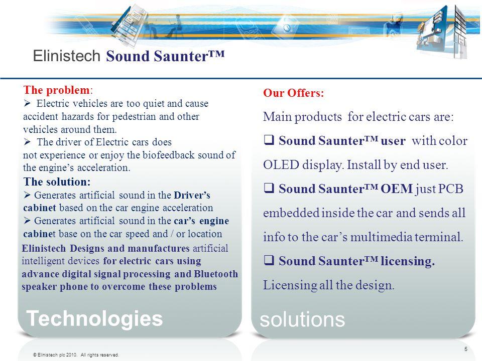 Elinistech Sound Saunter™