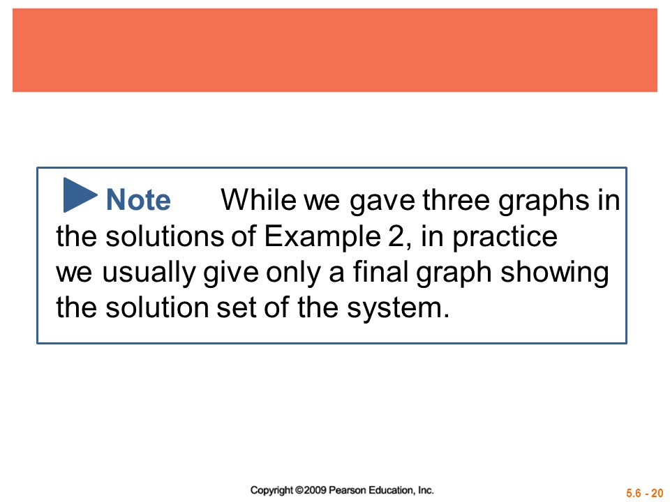 Note While we gave three graphs in the solutions of Example 2, in practice