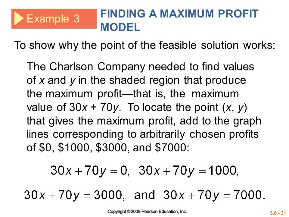 FINDING A MAXIMUM PROFIT MODEL