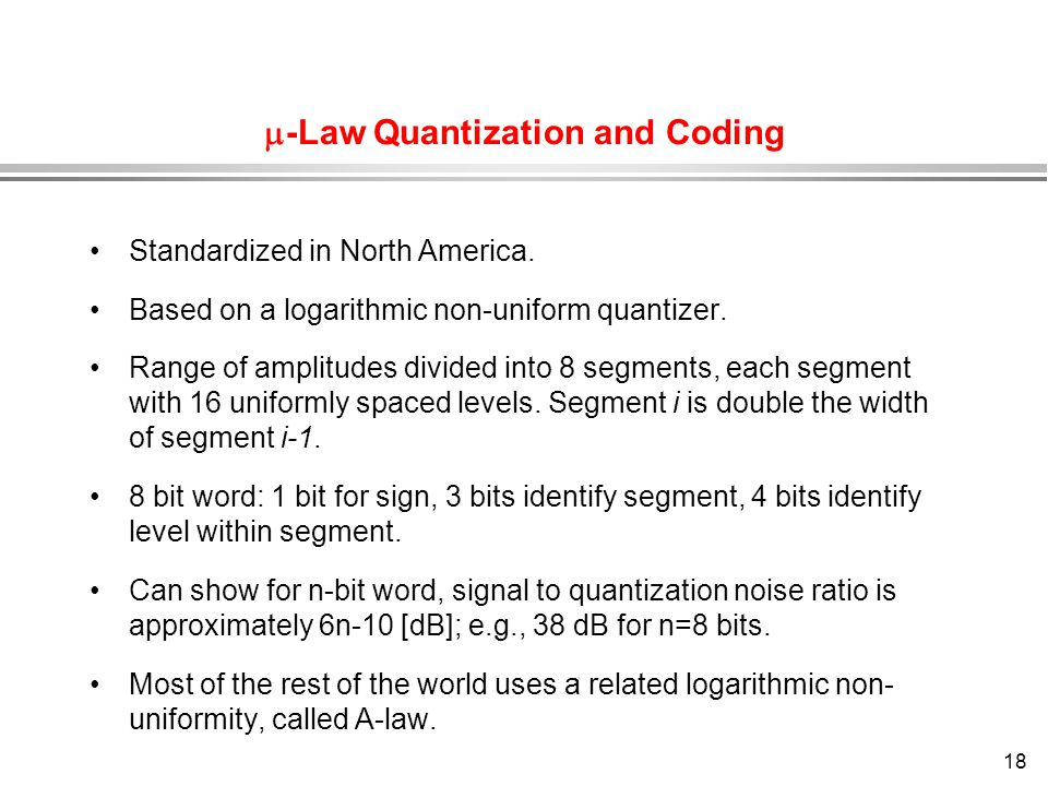 -Law Quantization and Coding