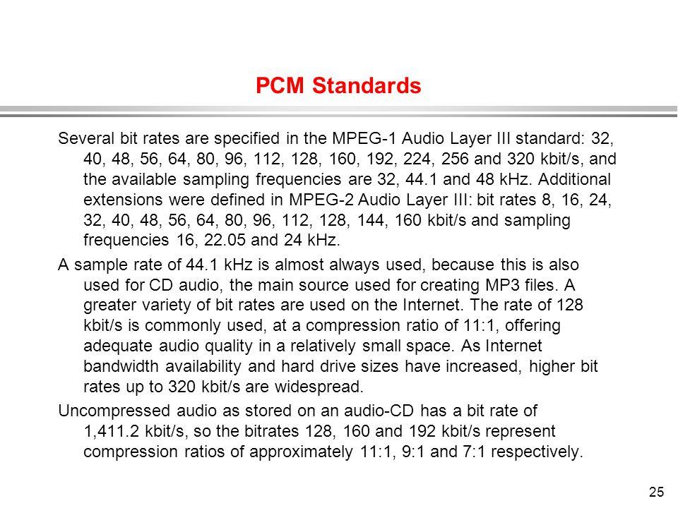 PCM Standards