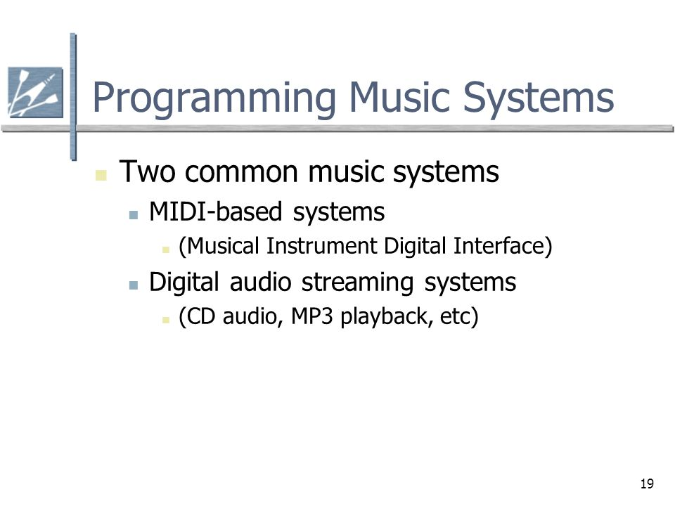 Programming Music Systems