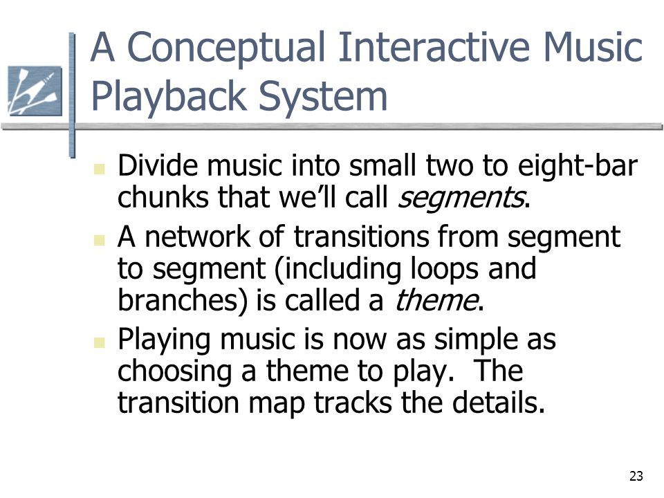 A Conceptual Interactive Music Playback System