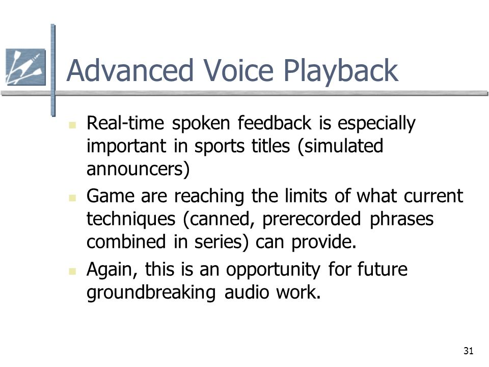 Advanced Voice Playback