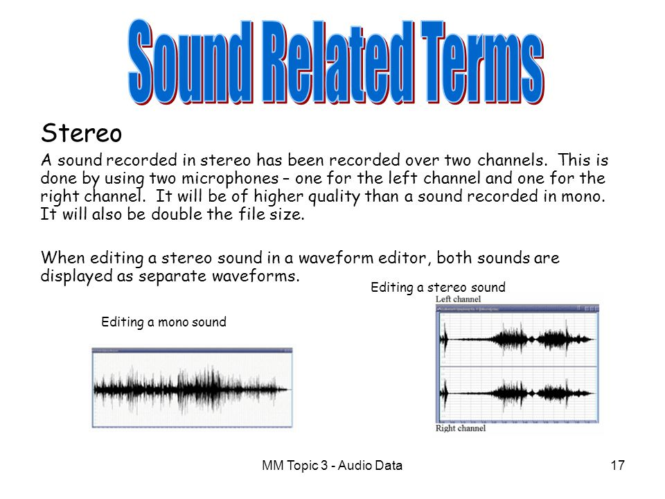 Sound Related Terms Stereo