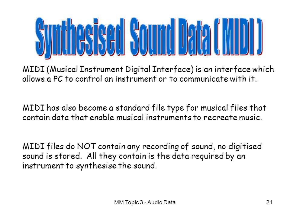 Synthesised Sound Data ( MIDI )