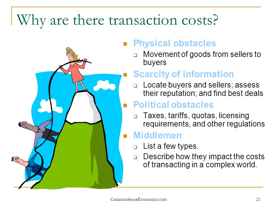 Why are there transaction costs