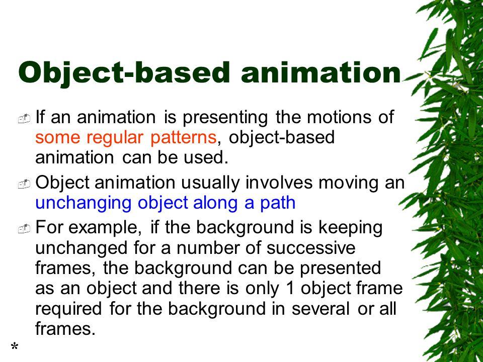 Object-based animation