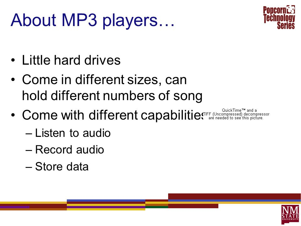 About MP3 players… Little hard drives