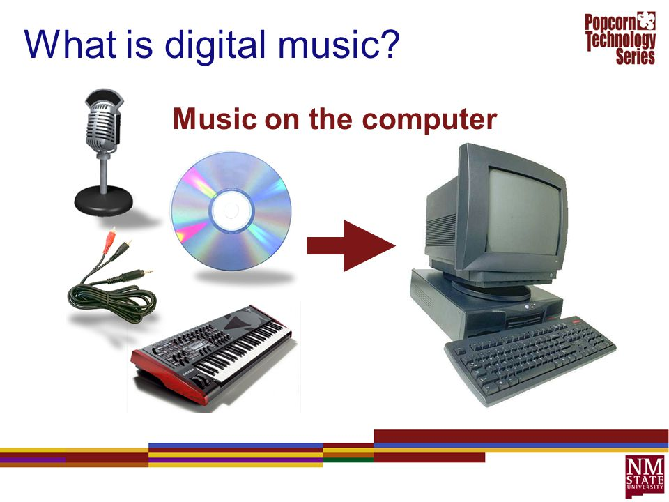 What is digital music Music on the computer