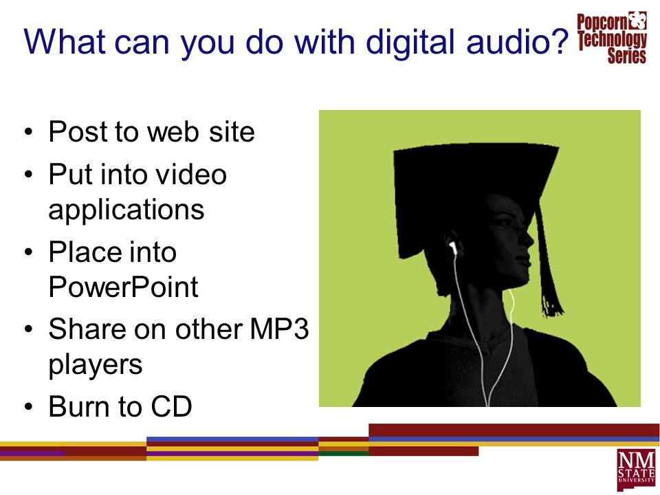 What can you do with digital audio