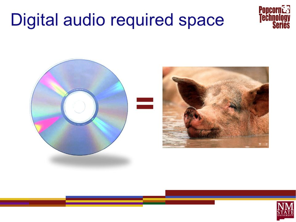 Digital audio required space