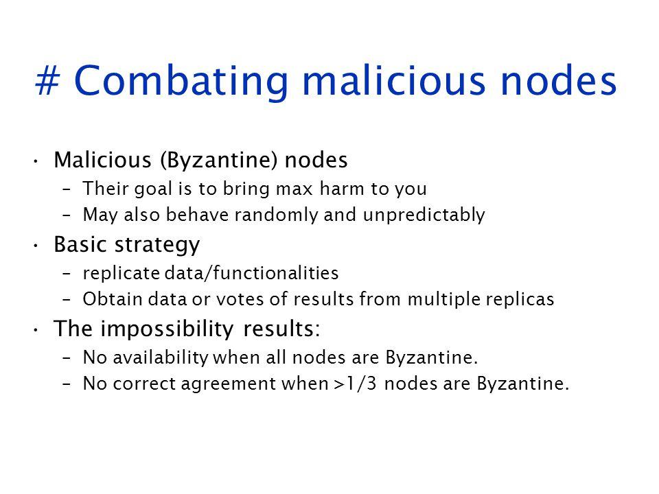 # Combating malicious nodes