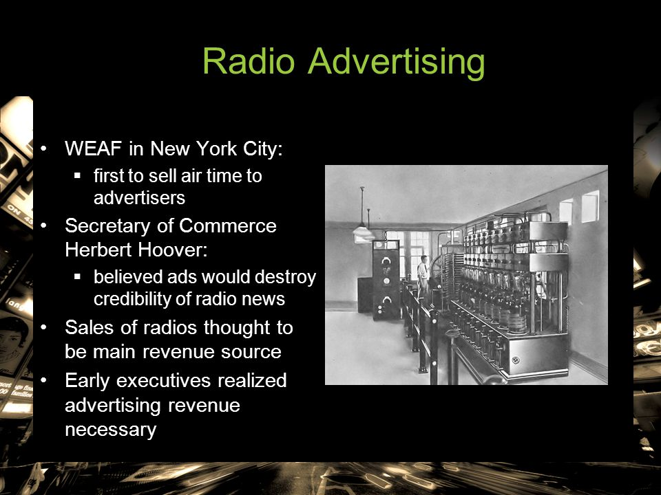 Radio Advertising WEAF in New York City: