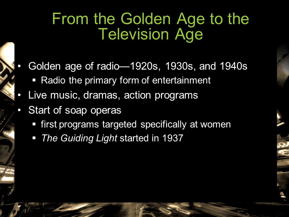 From the Golden Age to the Television Age