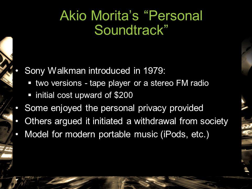 Akio Morita's Personal Soundtrack