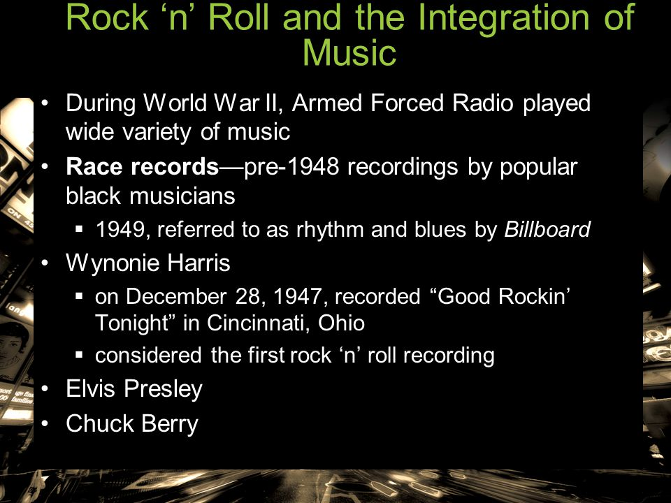 Rock 'n' Roll and the Integration of Music