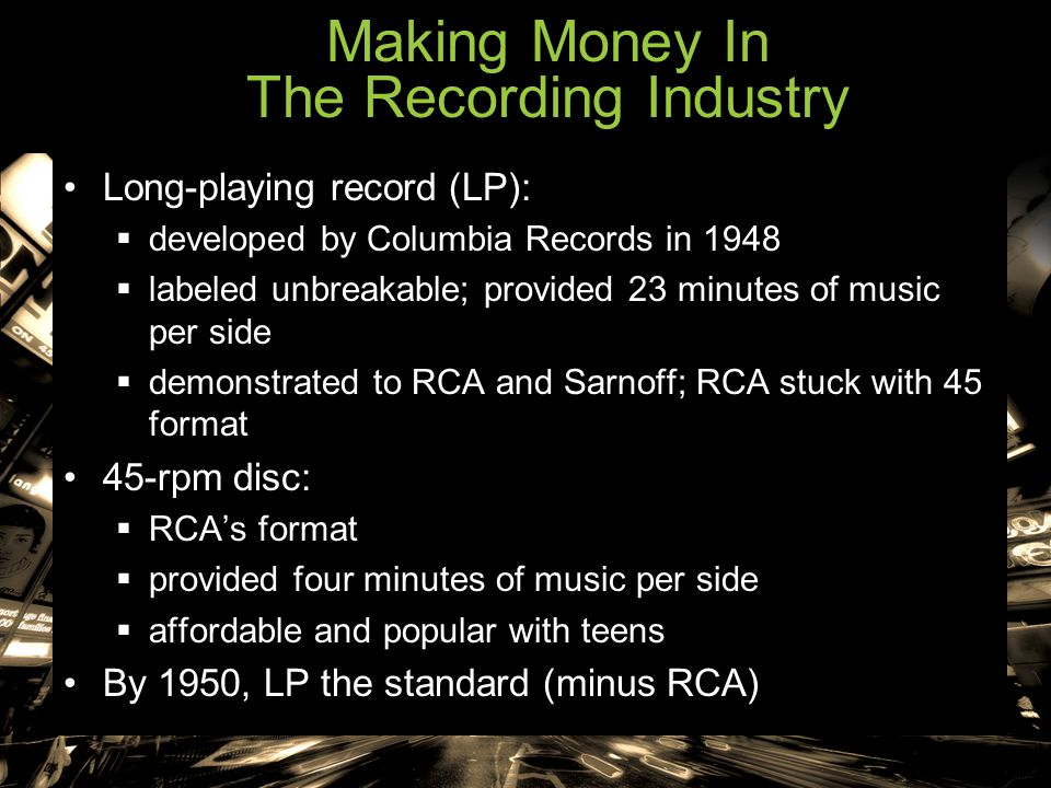 Making Money In The Recording Industry