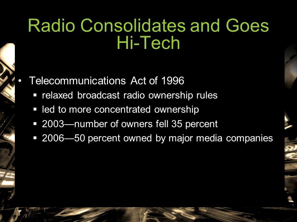Radio Consolidates and Goes Hi-Tech
