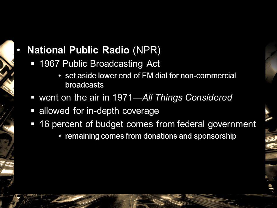 National Public Radio (NPR)