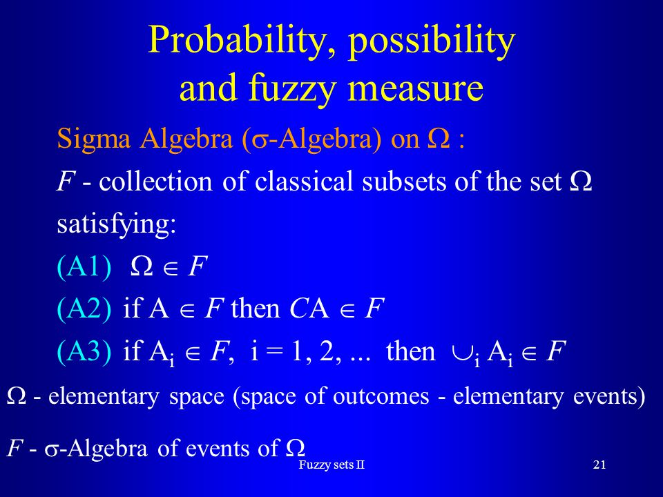 Probability, possibility and fuzzy measure