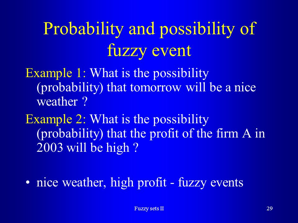 Probability and possibility of fuzzy event