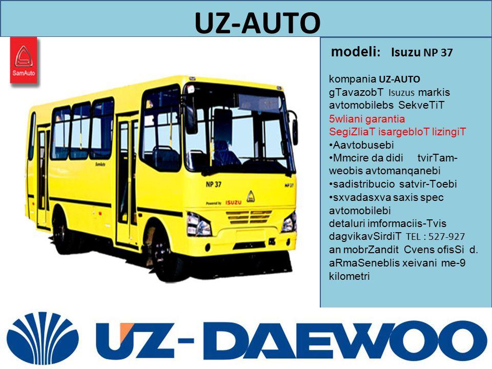 modeli: Isuzu NP 37 UZ-AUTO