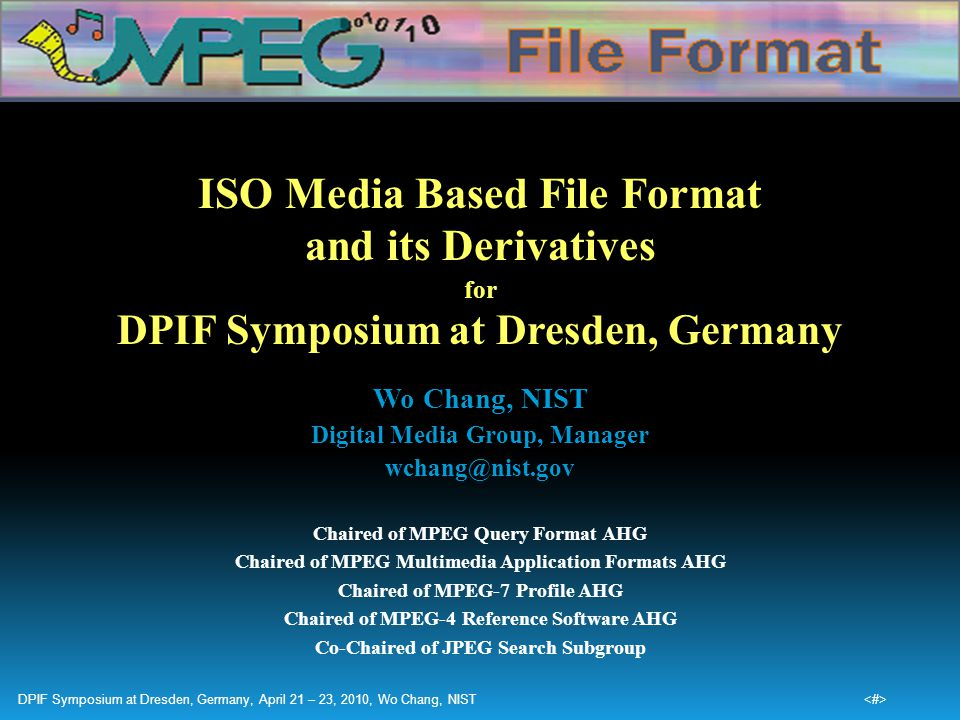 ISO Media Based File Format and its Derivatives