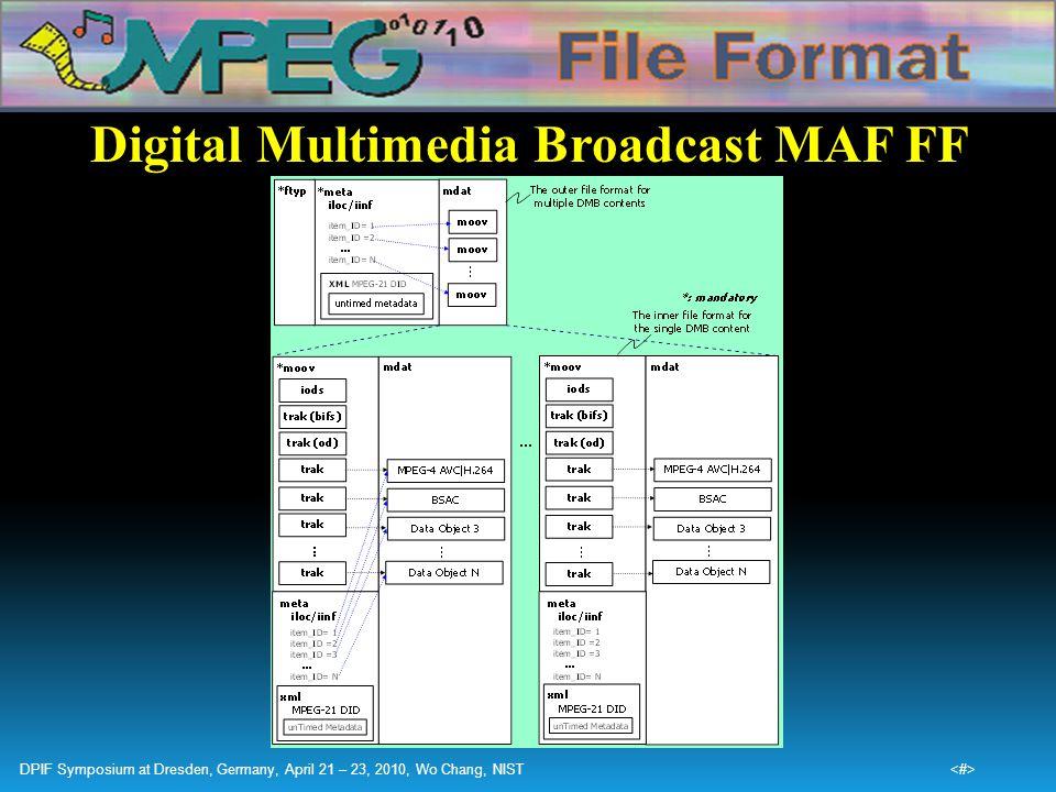 Digital Multimedia Broadcast MAF FF
