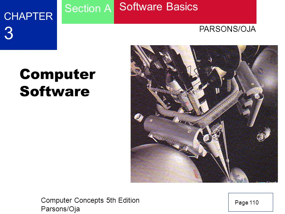 Computer Software 3 Section A Software Basics CHAPTER PARSONS/OJA
