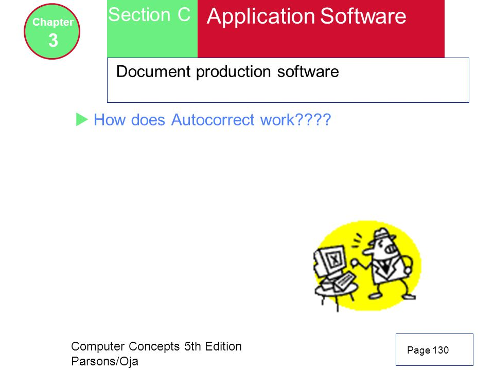 Application Software Section C 3 Document production software