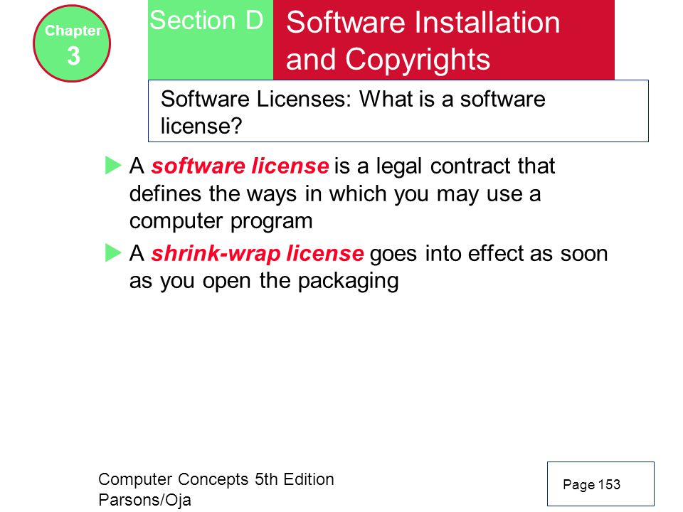 Software Installation and Copyrights