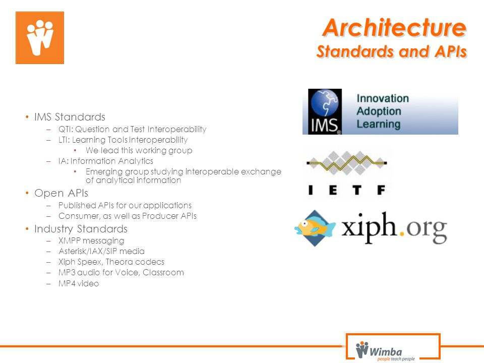 Architecture Standards and APIs