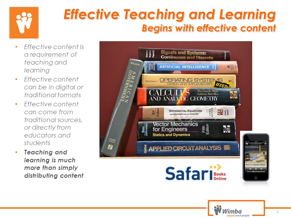 Effective Teaching and Learning Begins with effective content