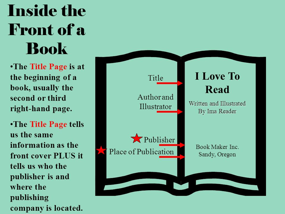 Illustrated Book Cover Generator : The parts of a book ppt video online download