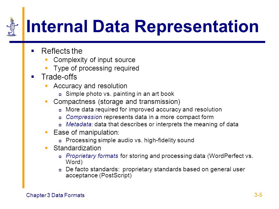 Internal Data Representation