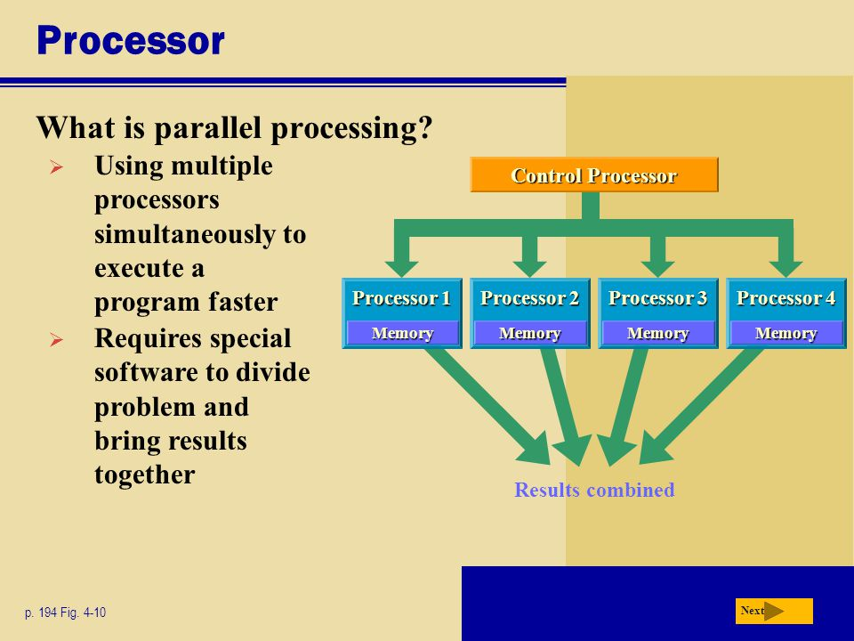 Processor What is parallel processing