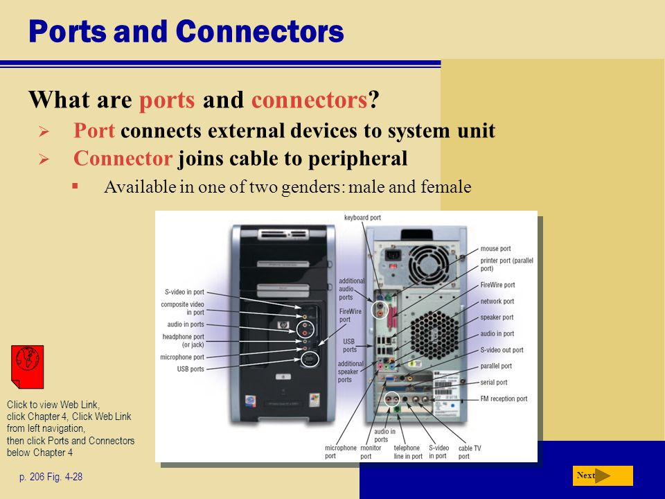 Ports and Connectors What are ports and connectors