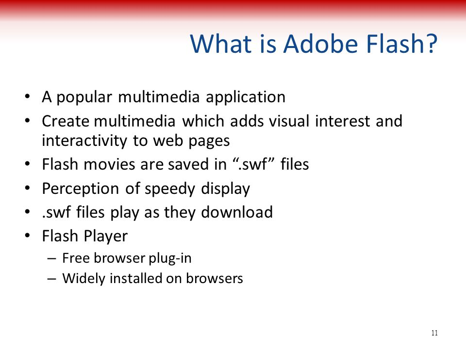 What is Adobe Flash A popular multimedia application
