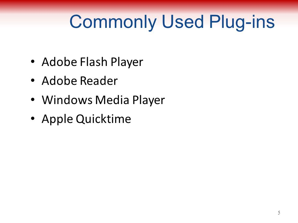 Commonly Used Plug-ins