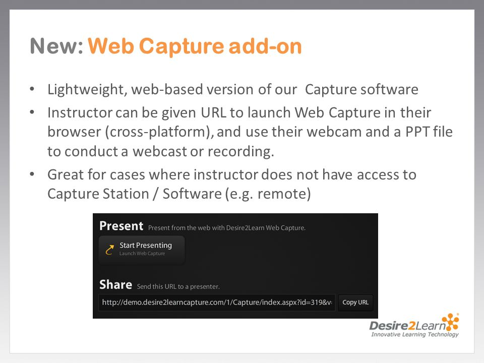 New: Web Capture add-on